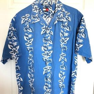Tommy Hilfiger Men's Hawaiian Floral Shirt Size L